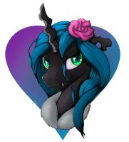Queen Chrysalis Portrait by Sceathlet
