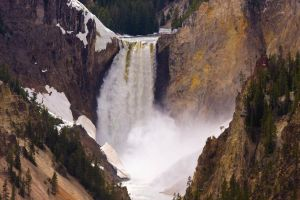 Lower Falls of the Yellowstone by LakeFX