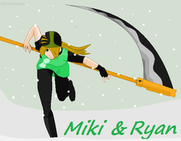 Miki and Ryan -Weapon Form- by Ciaratheresa