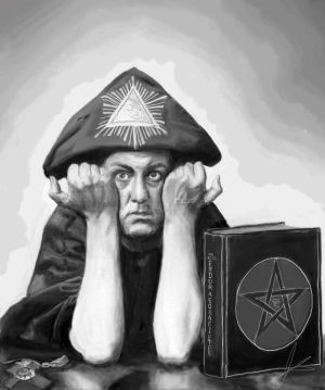 Aleister Crowley by Galacticspiral