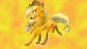wolf applejack by MonsterPon3