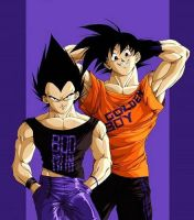 Goku and Vegeta . +1 by DBpictures