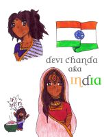 Hetalia OC-India by V8S