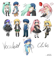 Vocaloid chibis -set- by Ailish-Lollipop