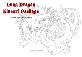 Female Lung Dragon Lineart Package by jeweledphoenix