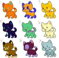 cheap bitty kitty adoptables (4 left!) by fishbowlspace