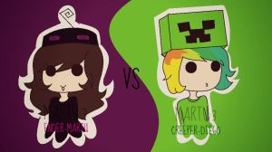 Ender-martu VS Creeper-diego by Martu-nyan