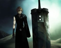 +CLOUD STRIFE+ FFAC by Orenji-kun
