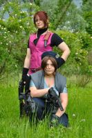 Claire and Jill Cosplay by Tippy-The-Bunny