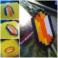 Legend of Zelda Rupee: Perler Beads by sweetkristina07