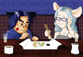 Sushi day! by cormoran