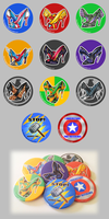 Avengers: Buttons for Sale~ by Pyratesque