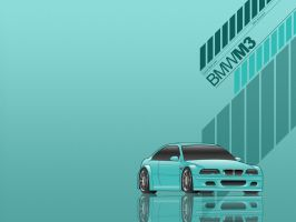 BMW M3 Wallpaper Cyan Green by nouseforaname