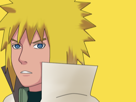 Minato Colored Lineart by Shadow-chan15