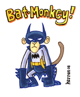 Bat-Monkey by herrenmedia
