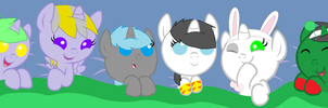 Our Digimon Oc's As Baby Pony's by usagiemiller