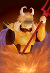 Asgore- The King in the Mountain by WhiteFoxzz