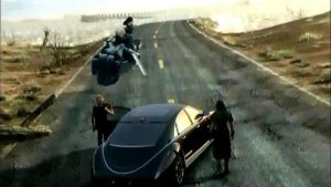 Noctis and Prompto meet Cloud and Tifa on the road by MR-ENERGYZONA
