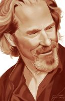 Jeff Bridges by GarrettVFinazzo