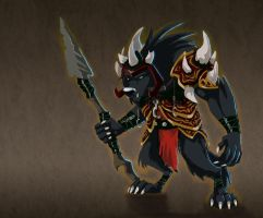 Worg Knight by doingwell