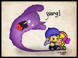 BLARG MONSTER PART 2 by podgypanda