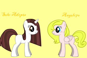 Me and Angel270 by Sele-Adopts
