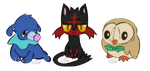 Sun and Moon Starters by ScraptorProductions
