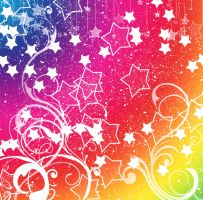 .Rainbow Stary Background. by MamuEmu