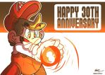 Happy Anniversary, Mario! by geogant