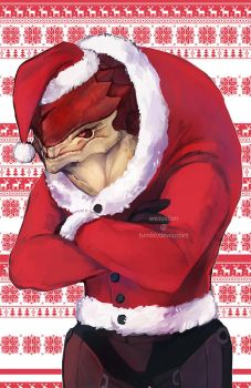 ME Christmas Sweaters - Wrex by Weissidian