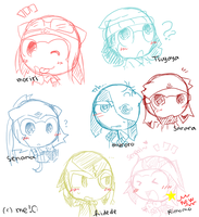 other character doodles C: by aruruXchan
