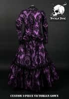 Victorian plum gown by Picklethis