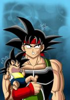Bardock and Kakarot - Version I by Yugoku-chan