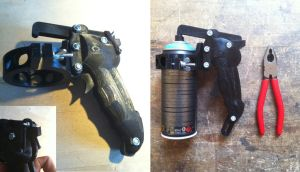 3D Printed ergonomic Spraygun Handle by yzorg