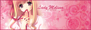Signature for ladymelissa by WinnieDePoeh