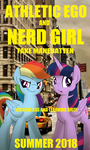 Athletic Ego and Nerd Girl by DerpyMadness