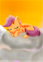 Sleeping Scootaloo by Rusatus