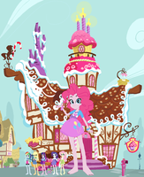 Giantess Pinkie Pie at Sugar Cube Corner by ChipmunkRaccoon2