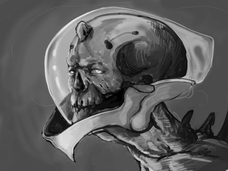 Space skull by NihoAme