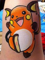 Raichu- Face Painting by sazmullium