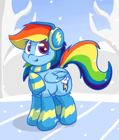 Dash's Winter Ver.1 by LyricBrony