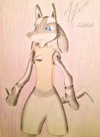 OC: Dru the Lucario by A7xCaramel