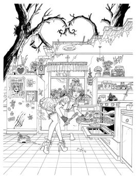 Little Alice in Wonderland T3 cover BW by FTacito