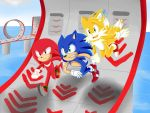 Doodle Sonic Heroes Team Sonic by GoldTHSKY