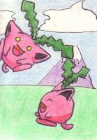 ACEO 15 - flying Hoppip by juneyleinchen