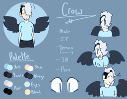crow reference sheet by queen-wolfie