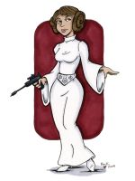 princess leia colored by beckadoodles