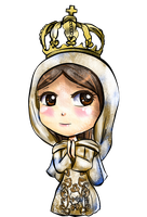 Kickstarter Commission: Our Lady Chibi by FaithWalkers