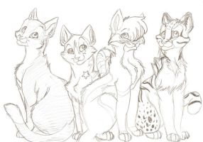 She-cats Rule wip by PureRubyDragon