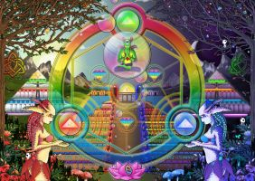 Balancing Omniversal Triptych Alchemy by CultCreations
